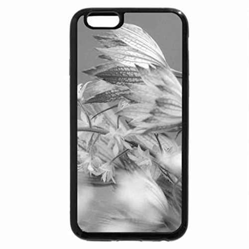 iPhone 6S Plus Case, iPhone 6 Plus Case (Black & White) - FLORAL WONDER