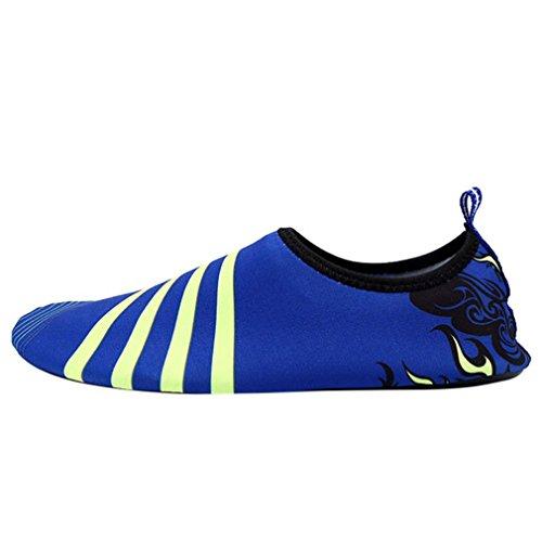 (Outdoor Hiking Slip On Flexible Pool Beach Swim Surf Yoga Wetshoes Skin Shoes Blue 10.5)