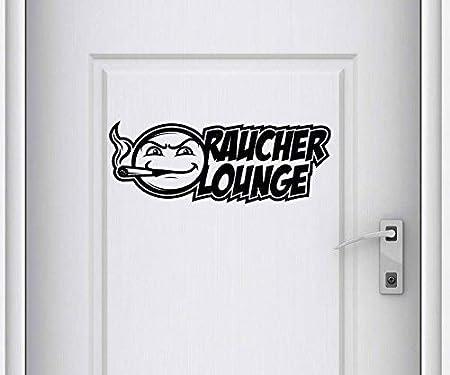 Pegatina de Puerta Fumar Lounge Texto Signo de Frase Pegatina ...