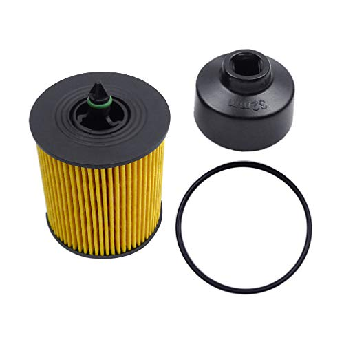 (Ibetter Genuine Engine Oil Filter and Cap Seal with 32mm Oil Filter Wrench and O-Ring for Equinox, Cobalt, Saturn Lon, GMC Terrain, Pontiac Solstice, Saab and All Vehicle with PF457G Oil Filter)