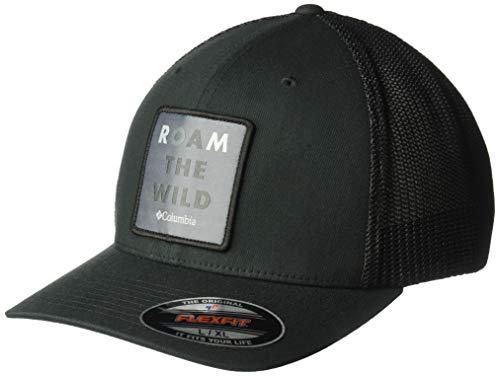 (Columbia Men's Trail Ethos Mesh Hat, Black, Roam The Wild, Small/Medium)