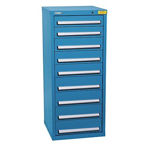 (Kennedy Manufacturing 7133UB Compact HDS 9-Drawer Standing High Cabinet, Industrial Utility Blue)