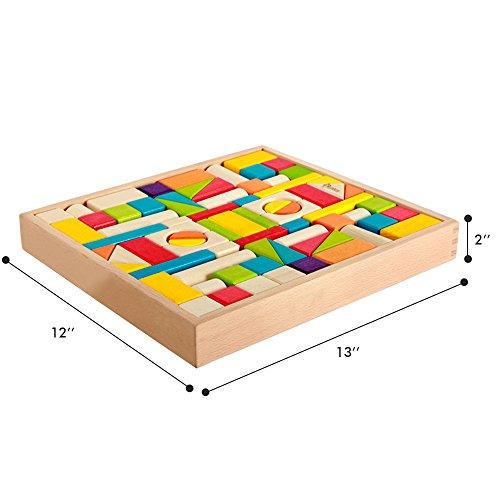 Colored Wood Blocks ~ Wood blocks iplay ilearn colored block set natural
