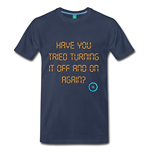 computer-turn-it-off-and-on-again-mens-premium-t-shirt-by-spreadshirt-m-navy