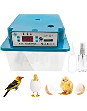 Safego Hatching Eggs Incubator 16 Eggs Digita Mini Automatie Incubatores with Turner for Hatching Turkey Goose Quail Chicken Eggs,Built-In Egg Candler Tester,Small Egg Hatcher Machine