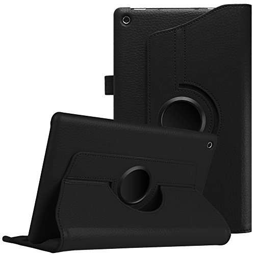 Fintie Rotating Case for All-New Amazon Fire HD 8 2018/2017 / 2016-360 Degree Rotating Cover Swivel Stand Auto Wake/Sleep for Fire HD 8 (8th & 7th & 6th Gen, 2018/2017/2016 Release), Black