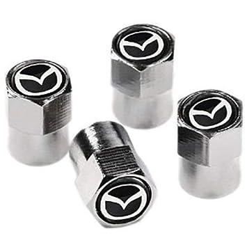 Tapones para válvula de llanta Protrex UK® para Mazda en cromo y negro. MX-5, RX-8, CX-5, Bongo, 323: Amazon.es: Coche y moto