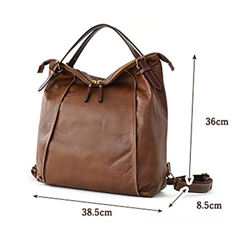 Handbags Shoulder Tote Cowhide Women Vintage School Capacity Business Multifunction Ladies Coffee Bags Brenice Large Backpack for for Travelling Coffee Waterproof 7EwSqwd5
