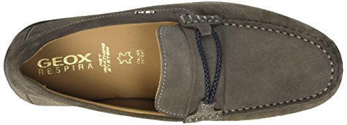 Suede Geox Mens U Grey Moccasins Moc C Xense Leather Shoes rWzrqwY4p