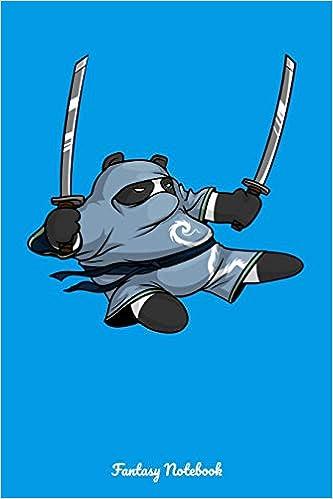 Fantasy Notebook: Panda Bear Ninja Samurai Notebook: Cloud ...