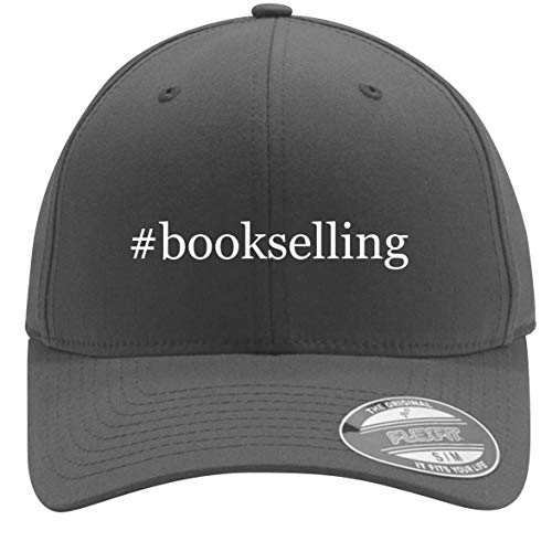 #Bookselling - Adult Men's Hashtag Flexfit Baseball Hat Cap, Silver, Small/Medium (Outdoor Furniture Laguna)
