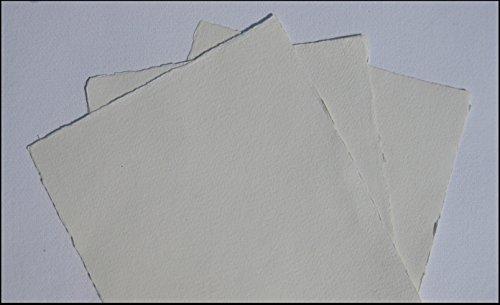 handgeschöpftes Büttenpapier Aquarellpapier A4 10 Bogen/Set naturweiß 200g/m² BaumwollLinters