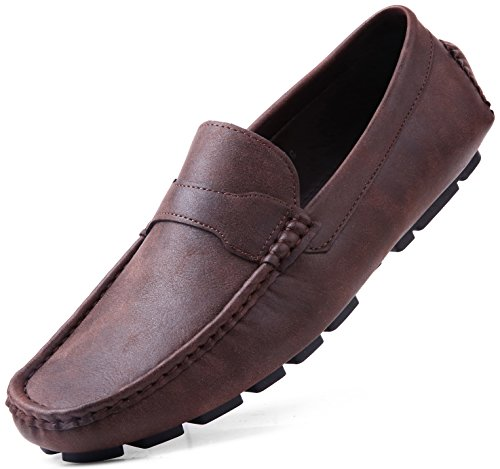 Men driving shoes brown
