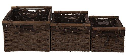 (Juvale Storage Baskets - 3 Piece Wicker Baskets for Shelves)