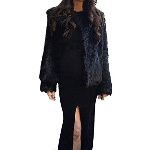 2017 Grande Taille Hiver Chaud Manteau Court Fourrure Manche longue Longra Femme Ado Chic Outerwear Jacket Doux
