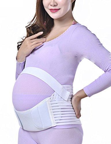 THEE Fajas de Embarazo Ajustable Soporte de Cinta para Premamá blanco