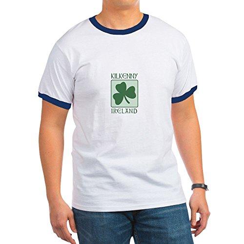CafePress - Kilkenny, Ireland Ringer T - Ringer T-Shirt, 100% Cotton Ringed T-Shirt, Vintage Shirt Navy/White