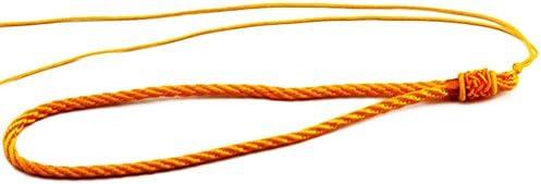 Chytaii 2pcs Correa de Mu/ñeca Cuerda Colgante Exquisito para Nudo Chino Artesan/ía DIY Multiuso Estilo Chino Amarillo