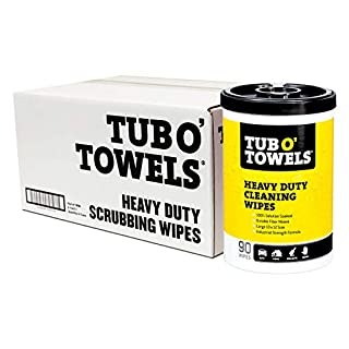 """Tub O Towels TW90 Heavy-Duty 10"""" x 12"""" Size Multi-Surface Cleaning Wipes, 90 Count Per Canister, 6-Pack"""