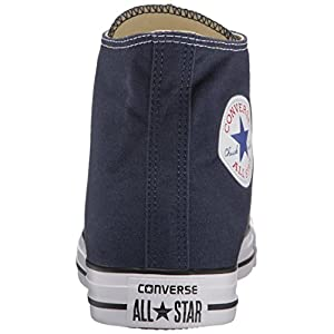 Converse Chuck Taylor All Star Canvas High Top Sneaker, Navy, 12 US Men/14 US Women