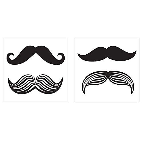 BirthdayExpress Mustache Party Supplies - Tattoos (8)]()