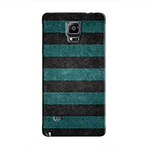 Cover It Up - Teal and Black Stripes Galaxy Note 4Hard Case