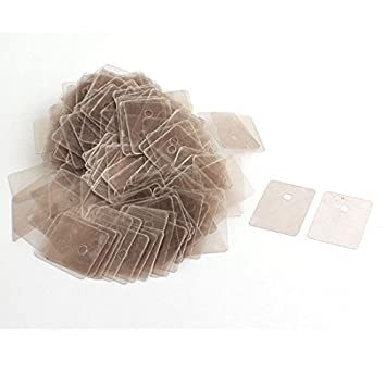 Amazon.com: 300Pcs 22mmx29mmx0.12mm hoja de mica aislante ...