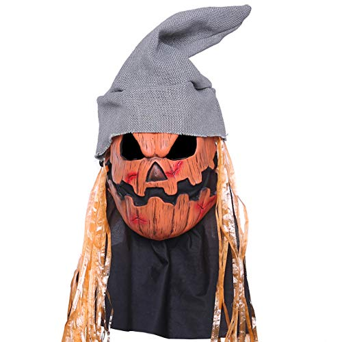 Holloween Pumpkin Head Mask Latex Scary Holloween Cosplay
