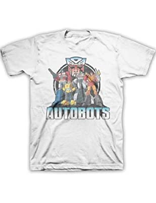Transformers Autobot Line Up Mens White T-Shirt