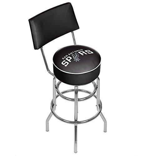 NBA San Antonio Spurs Padded Swivel Bar Stool with Back (Furniture Antonio San Clearance)