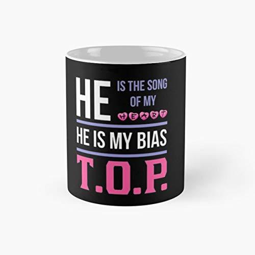 (HE IS MY BIAS BLACK - T.O.P. Mug kpop Tea Cups, 11 Ounce Ceramic Mugs, Perfect Novelty Gift Mug, Funny Gift Mug, Tea Mugs, Funny Coffee Mug)