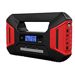 Compact, convenient jump start and mobile power12 V / 200 A jump start function for air/discharge car batteryJumper start cable with insulation clamp and overload protectionPortable power supply for charging mobile phones, tablets, and camera...