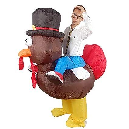 De regalos de fiesta disfraz hinchable de Turquía disfraz de ...