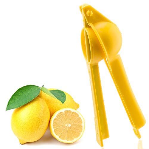 MerchExpo Lemon Squeezer, Manual Lime Citrus Press Juicer Plastic, 8 Long Durable Handle Heavy Duty & Dishwasher Safe , Yellow
