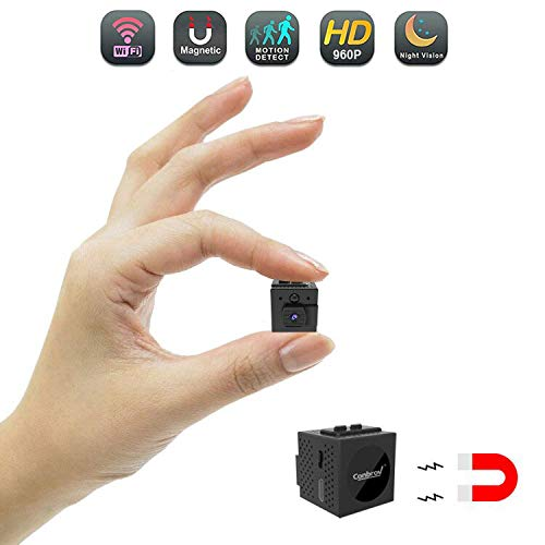 Spy Camera with WiFi, Conbrov WF98 960P Wireless Hidden Camera Body Camera Video Recorder with Motion Detection and Night Vision for Home Security, Support Max 128GB (NO SD Card) Version