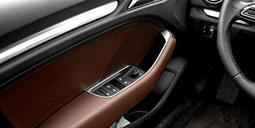 Edelstahl Interior T/ür Armlehne Dekoration Stripe Schutzh/ülle Trim 4 F/ür A3 8V Limousine//F/ünft/ür Kombilimousine 2012-2018