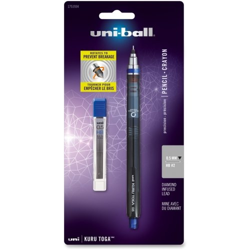 Uni-Ball Kuru Toga Mechanical Pencil - #2 Pencil Grade - 0.5 mm Lead Size - Dark Gray Lead - 1 / Set