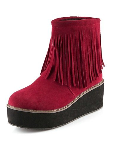 Casual Semicuero Beige Zapatos Cn36 Red Redonda 5 Uk4 Plataforma Negro Rojo Punta Creepers Mujer Uk8 Eu36 Beige us6 De Cn43 Eu42 5 Xzz Vestido us10 Botas zdpwxOvOq