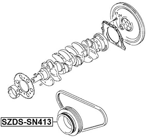 Crankshaft Pulley Engine M13A Febest SZDS-SN413 Oem 12610-80A01