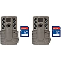 Moultrie A20 12MP Infrared Mini Hunting Trail Camera, 2 Pack + 16 GB SD Cards