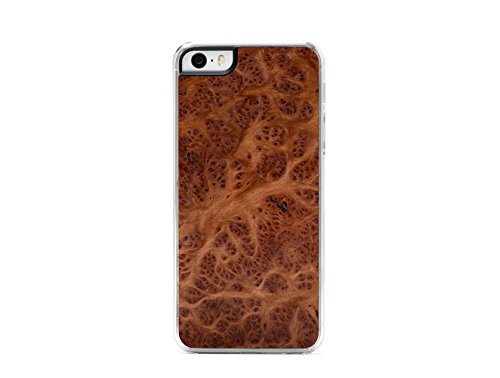 CARVED Wood Clear Case for iPhone 5 - Redwood Burl (I5-CC1B)