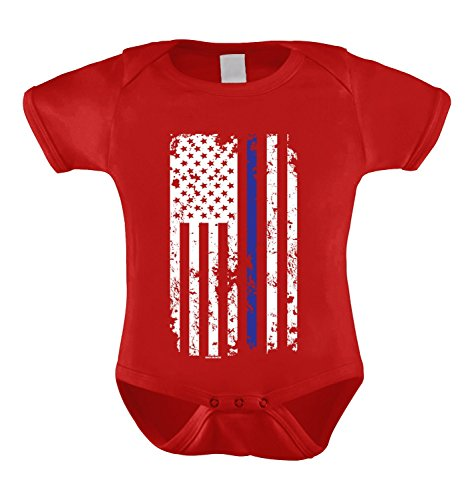 HAASE UNLIMITED Thin Blue Line American Flag Infant Bodysuit