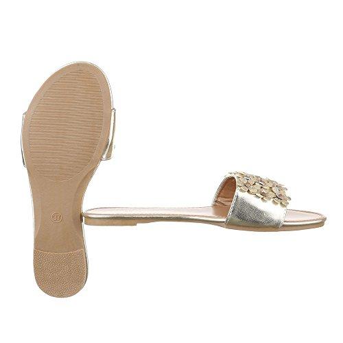 Ital-Design - zapatillas de baile (jazz y contemporáneo) Mujer , color dorado, talla 38 EU