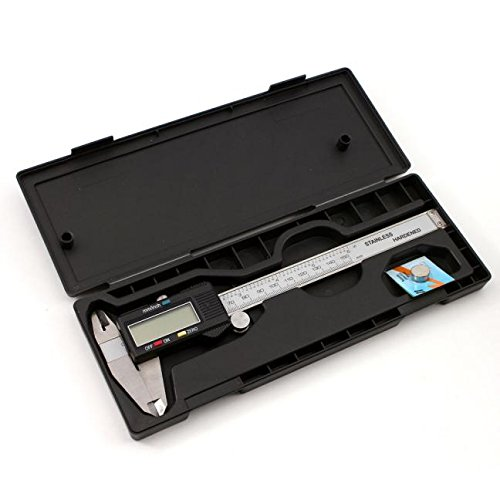 Digital Calipers with Hard Case - 150mm 6 inch LCD Digital Electronic Stainless Steel Vernier Caliper Gauge Micrometer Measuring Ruler Tool Buyeverything