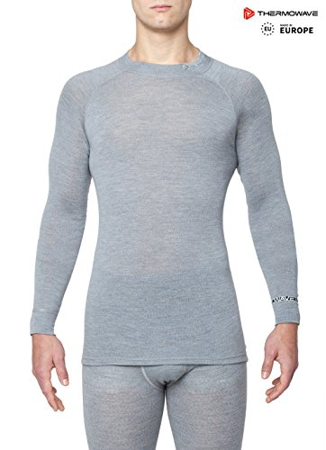 Thermowave - Merino Warm/Mens Merino Wool Thermal Shirt/Silver Melange - X-Large