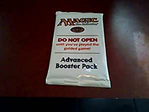 Magic the Gathering Starter Level Advanced Booster Pack---1993-2001 Wizards of the Coast, Inc. Version---white Package Version---advanced Booster Pack