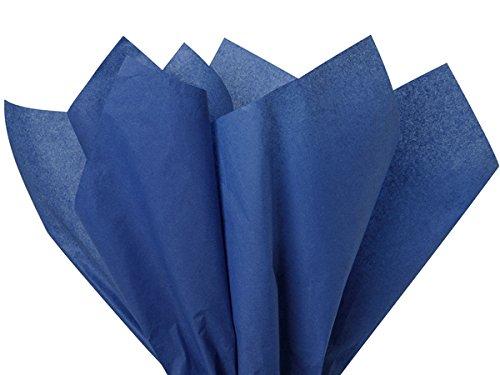 (Dark Blue Tissue Paper 15 Inch X 20 Inch - 100 Sheet Pack premium tissue paper A1 bakery supplies)