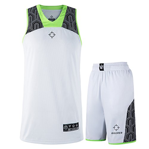 4c7fb4e2b09 Rigorer Men s Basketball Uniform Sports Jersey and Shorts Training Tank Top  Set Athletic Sportswear