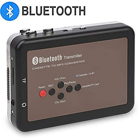 Reproductor de Casete Walkman con Bluetooth de Cinta de Casete con Conector para Auriculares de 3.5 mm DIGITNOW