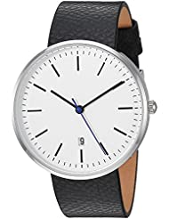 XIII Quartz Metal and Leather Watch, Color Black (Model: 001w)